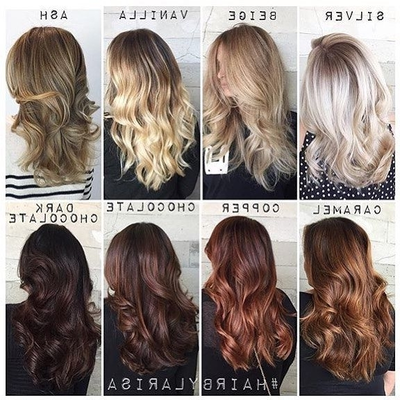 Tone Differences Between Each Color Thanks Larisa For The Chart For Light Chocolate And Vanilla Blonde Hairstyles (View 14 of 25)
