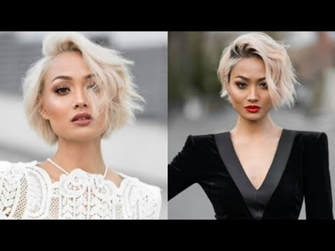 Top 10 Bleached Blonde Hairstyles For 2018 2019 : Short, Medium Long With 2018 Bleach Blonde Pixie Hairstyles (View 9 of 25)