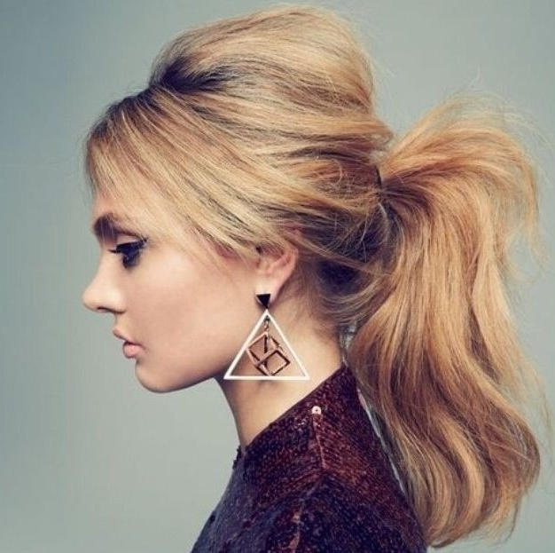 Featured Photo of Stylish Low Pony Hairstyles With Bump