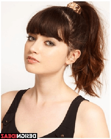 Top 10 Seriously Stylish Hairstyles With Bangs For Women In 2017 With Regard To High Ponytail Hairstyles With Side Bangs (View 14 of 25)