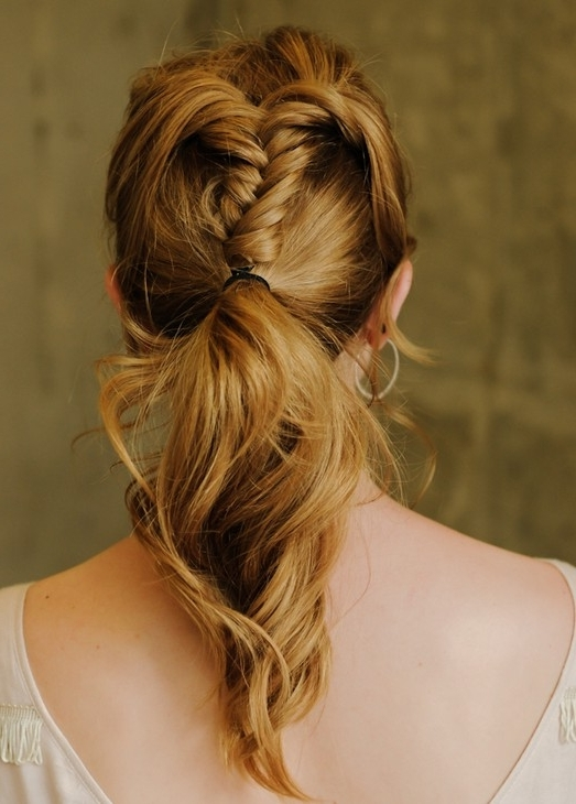 Top 20 Braided Hairstyles Tutorials – Pretty Designs With Ponytail Cascade Hairstyles (View 25 of 25)