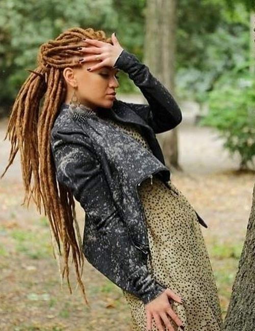 Top 25 Best Looking Dreadlock Hairstyles Pertaining To Braided Boho Locks Pony Hairstyles (View 20 of 25)