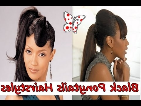 Top 25 Black Girl Ponytails Hairstyles, Easy Ponytails Hairstyles Intended For High Black Pony Hairstyles For Relaxed Hair (View 19 of 25)