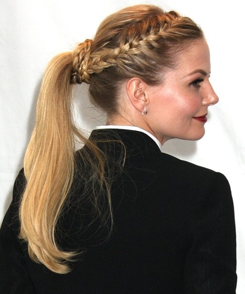 Top 25 Easy And Beautiful Ponytail Hairstyles Pertaining To Half French Braid Ponytail Hairstyles (View 18 of 25)
