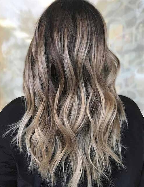 Top 25 Light Ash Blonde Highlights Hair Color Ideas For Blonde And In Dark Blonde Hairstyles With Icy Streaks (View 24 of 25)