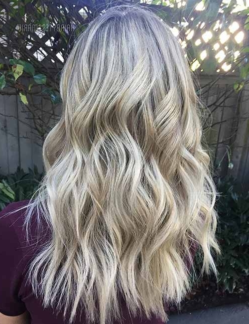 Top 25 Light Ash Blonde Highlights Hair Color Ideas For Blonde And Regarding Beachy Waves Hairstyles With Blonde Highlights (View 23 of 25)