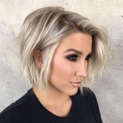 Top 27 Haircuts For Heart Shaped Faces Of 2018 | Latest Hairstyles For Textured Platinum Blonde Bob Hairstyles (View 17 of 25)