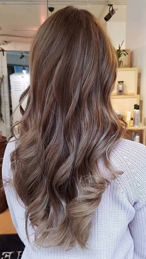 Top 30 Chocolate Brown Hair Color Ideas & Styles For 2018 Regarding Creamy Blonde Fade Hairstyles (View 22 of 25)
