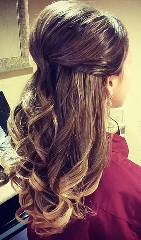 Top 30 Hairstyles To Cover Up Thin Hair Pertaining To Big And Bouncy Half Ponytail Hairstyles (View 9 of 25)