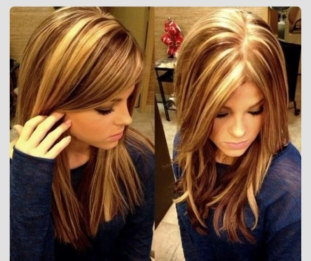 Top 30 Styles Brunette With Blonde Highlights | Hairstyles And Haircuts Within Blonde And Brunette Hairstyles (View 11 of 25)