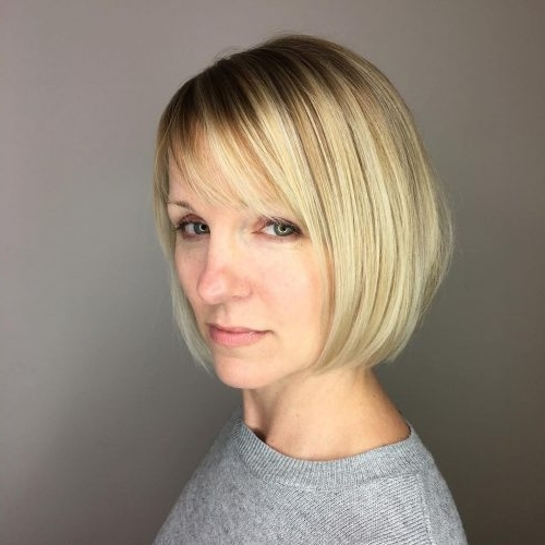 Top 36 Short Blonde Hair Ideas For A Chic Look In 2018 Intended For Creamy Blonde Waves With Bangs (View 13 of 25)