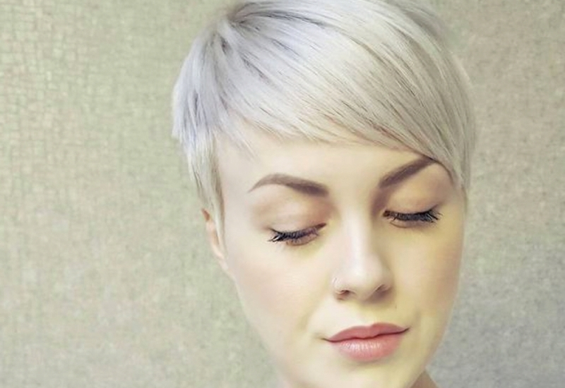 Top 36 Short Blonde Hair Ideas For A Chic Look In 2018 With Best And Newest Ashy Blonde Pixie Hairstyles With A Messy Touch (View 12 of 25)