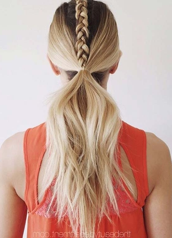 Top 40 Best Sporty Hairstyles For Workout | Fashionisers Within Hot High Rebellious Ponytail Hairstyles (View 24 of 25)