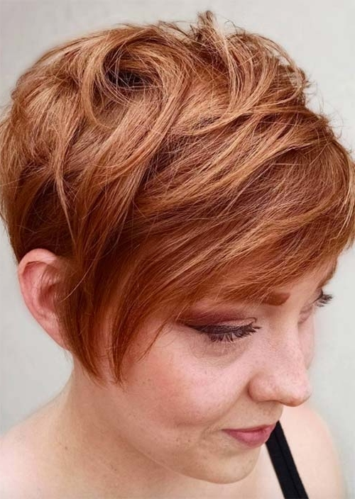 Top 51 Haircuts & Hairstyles For Women Over 50 – Glowsly For 2018 Reddish Brown Layered Pixie Bob Hairstyles (View 23 of 25)