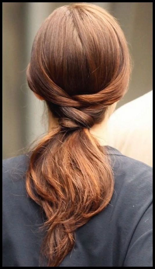 Top 6 Easy Casual Updos For Long Hair | Beauty School Dropout Regarding Low Twisted Flip In Ponytail Hairstyles (View 11 of 25)