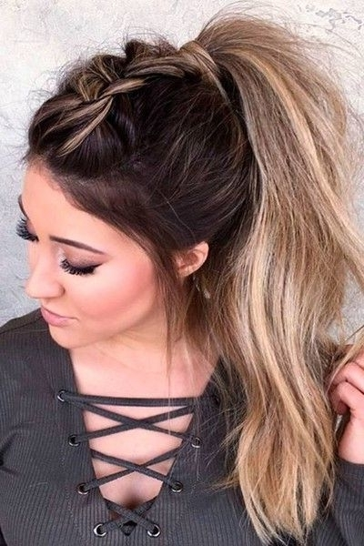 Top Braid Ponytail | Hair Styles | Pinterest | Plaited Ponytail Throughout Ponytail Hairstyles With A Braided Element (View 11 of 25)