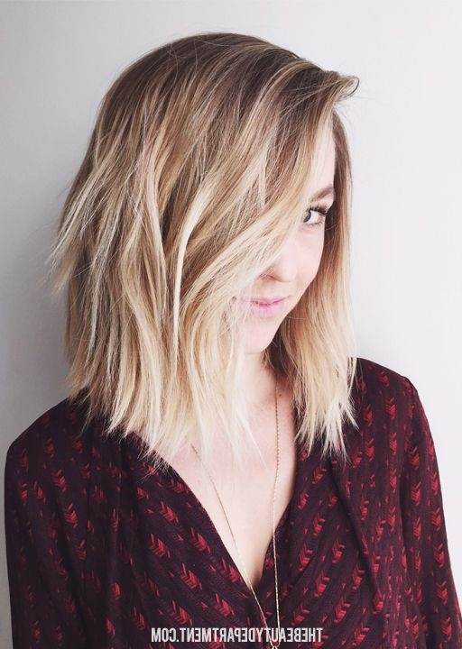 Top Ombre Hair Colors For Bob Hairstyles – Popular Haircuts Inside Messy Blonde Lob With Lowlights (View 17 of 25)