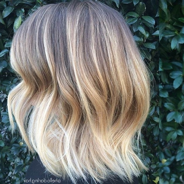 Top Ombre Hair Colors For Bob Hairstyles – Popular Haircuts With Rooty Long Bob Blonde Hairstyles (View 6 of 25)