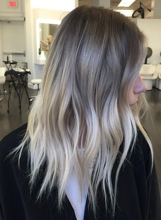 Top Winter Melt Hair Colors Ideas 2018 For Women Trends | Hair Throughout Grayscale Ombre Blonde Hairstyles (View 4 of 25)