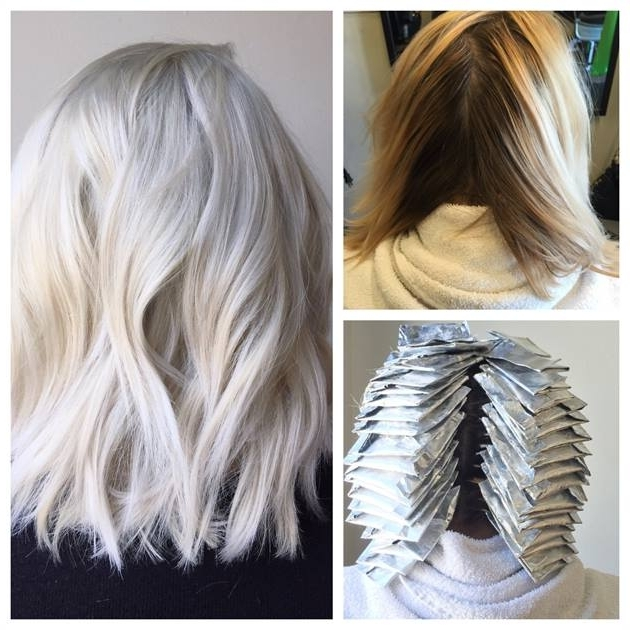 Transformation: From Box To Balayage Blonde To Platinum – Career For Grown Out Platinum Ombre Blonde Hairstyles (View 5 of 25)