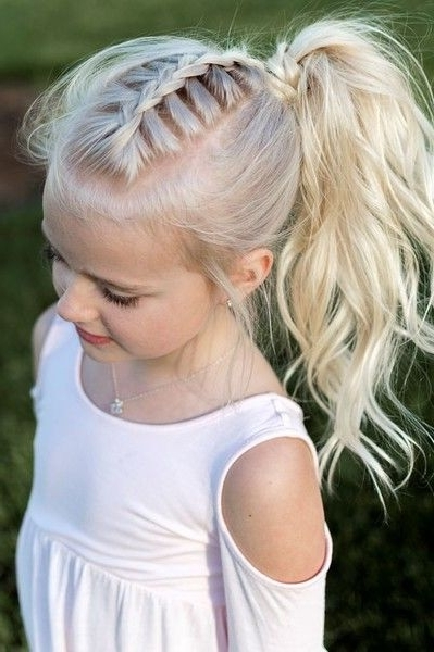 Trendy Braided And Cornrows Hairstyles For Girls – Hairzstyle Intended For Cornrows Hairstyles For Long Ponytail (View 25 of 25)