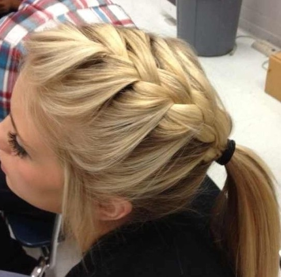 Trendy French Braid Hairstyles For 2014 – Pretty Designs Inside Trendy Ponytail Hairstyles With French Plait (View 12 of 25)
