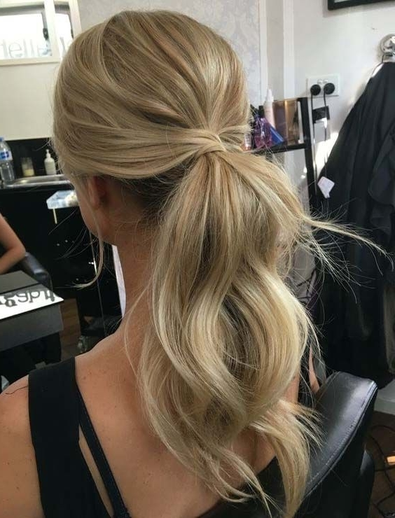 Trendy Hairstyle For Women   Prom Hairstyles Medium   Pinterest In Loose Messy Ponytail Hairstyles For Dyed Hair (View 11 of 25)