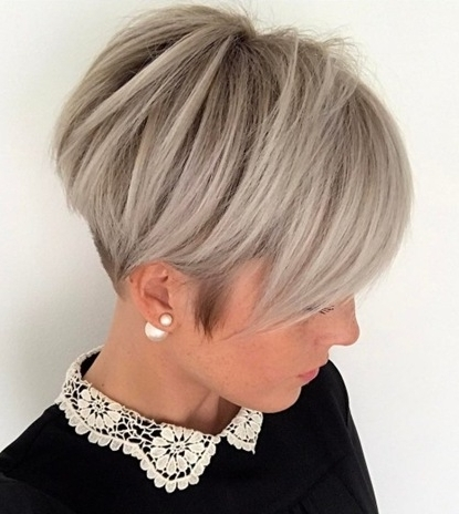 Trendy Women » Ash Blonde Pixie With Nape Undercut For Most Recent Ash Blonde Pixie Hairstyles With Nape Undercut (View 5 of 25)