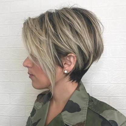 Trendy Women » Balayage Pixie With Tiered Layers Regarding Current Balayage Pixie Hairstyles With Tiered Layers (View 6 of 25)
