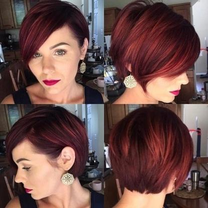 Trendy Women » Reddish Brown Layered Pixie Bob In Most Popular Reddish Brown Layered Pixie Bob Hairstyles (View 7 of 25)