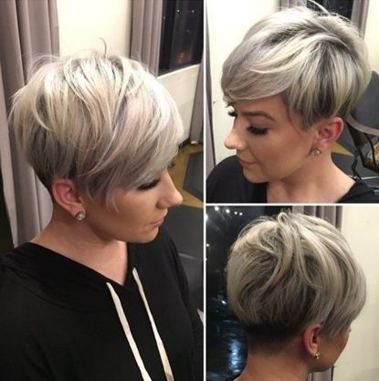 Trendy Women » Sassy Undercut Pixie With Bangs Inside Most Recent Sassy Undercut Pixie Hairstyles With Bangs (View 22 of 25)
