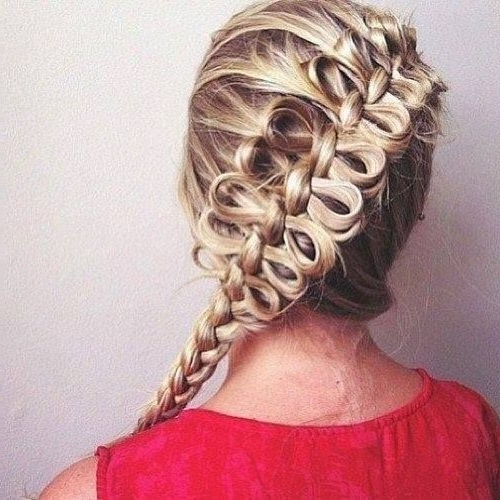 Trenzas – Buscar Con Google | Peinados | Pinterest | Searching With Regard To Bow Braid Ponytail Hairstyles (View 25 of 25)