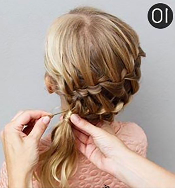 Try This Hairstyle – Diagonal Ladder Braid Into A Side Ponytail In Ladder Braid Side Ponytail Hairstyles (View 15 of 25)