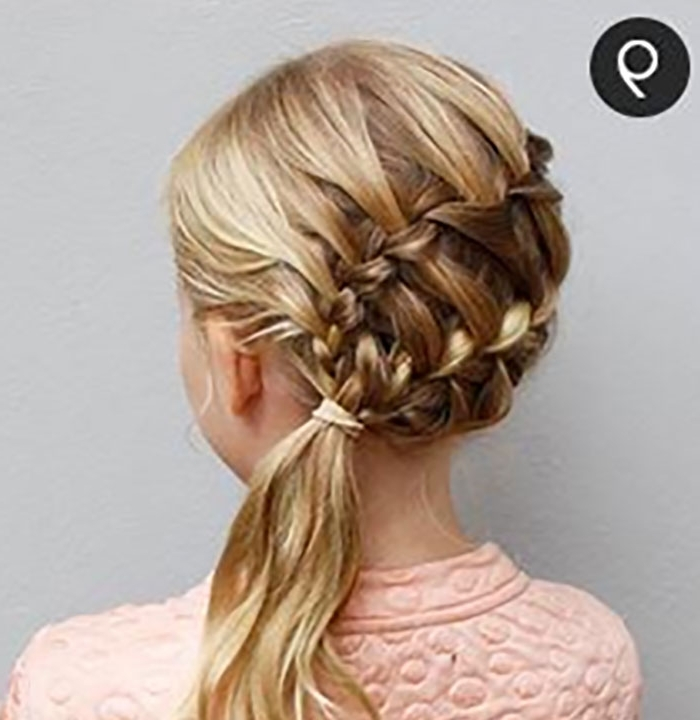 Try This Hairstyle – Diagonal Ladder Braid Into A Side Ponytail With Ladder Braid Side Ponytail Hairstyles (View 6 of 25)