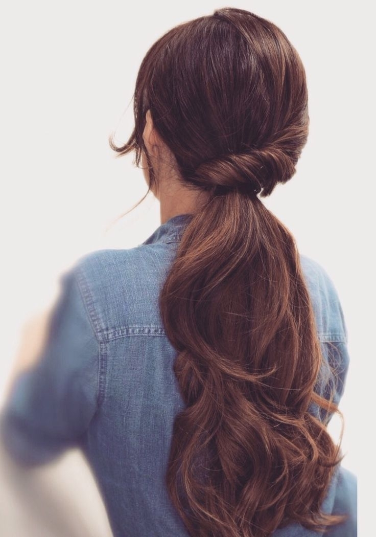 Featured Photo of Low Twisted Pony Hairstyles For Ombre Hair