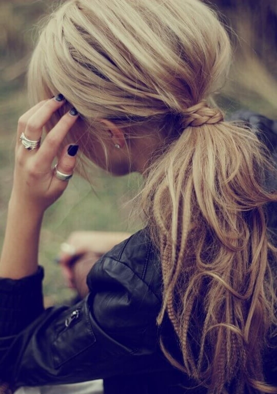 Twisted Hair With Messy Ponytail Small Cute Braid Love It So Much Intended For Twisted And Tousled Ponytail Hairstyles (View 25 of 25)
