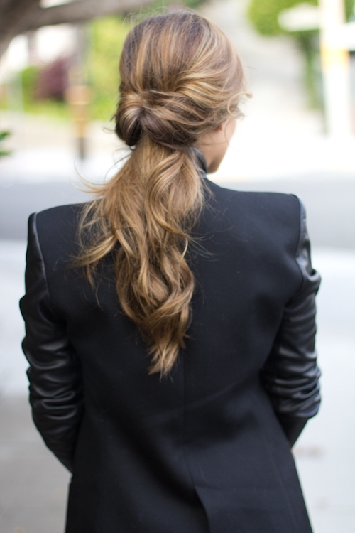 Twisted Ponytail – Gal Meets Glam Within Glossy Twisted Look Ponytail Hairstyles (View 20 of 25)