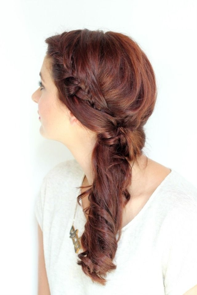 Twisted Side Braid Tutorial | Hair | Pinterest | Braid Tutorials Within Twisted Side Ponytail Hairstyles (View 5 of 25)