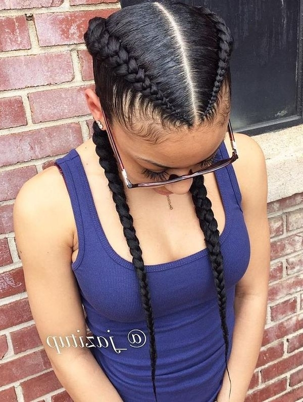 Two Braids Hairstyles | African American Hairstyling Pertaining To Two Braids In One Hairstyles (View 6 of 25)