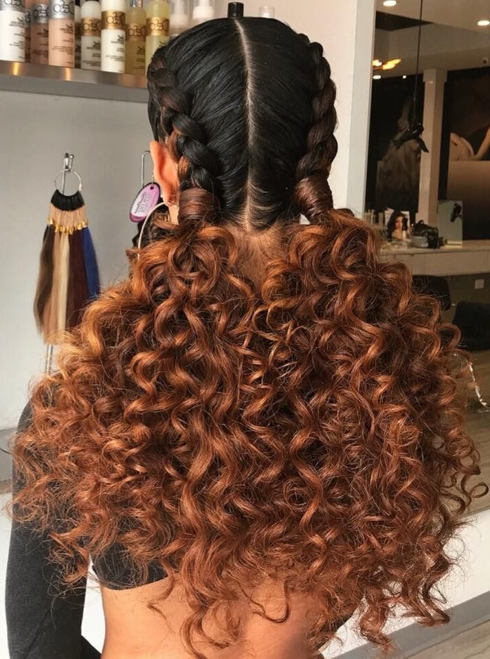 Two Braids To Two Curly Ponytails | Hair Skin And Nails | Pinterest With Classy 2 In 1 Ponytail Braid Hairstyles (View 17 of 25)