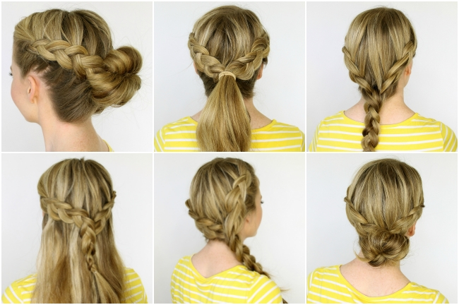Two Dutch Braids 6 Hairstyles In Two Braids In One Hairstyles (View 8 of 25)