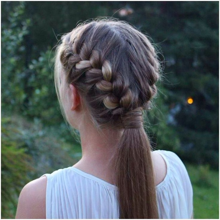 Two French Braids Into A Ponytail! #prettyhairstyleess Pertaining To Perfectly Undone Half Braid Ponytail (View 8 of 25)