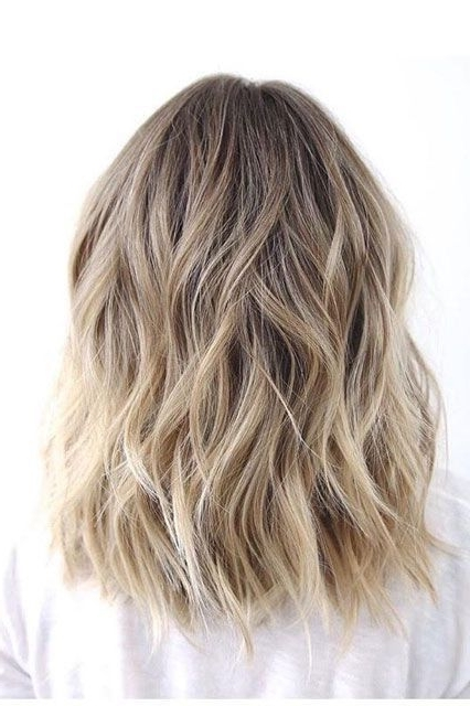 Two Tone Lob Mid Length Waves Tousled Curls Hair | Hair (Beauty Intended For Tousled Beach Babe Lob Blonde Hairstyles (View 5 of 25)
