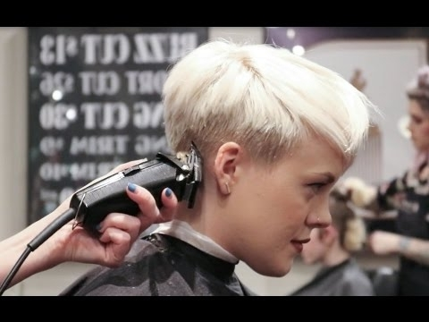 Undercut Pixie / How I Get My Haircut! – Youtube Inside Current Uneven Undercut Pixie Hairstyles (View 7 of 25)