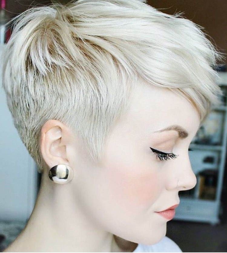 Undercut Pixie … | Pixie | Pinte… Pertaining To Most Popular Uneven Undercut Pixie Hairstyles (View 4 of 25)