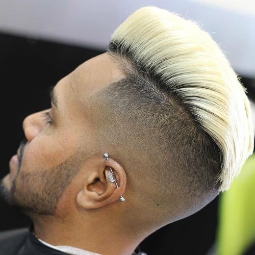 Undercut With Long Blonde Pompadour Throughout Long Top Undercut Blonde Hairstyles (View 13 of 25)