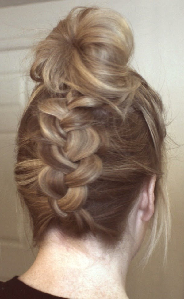 Upside Down Dutch Braid To Bun – Youtube Pertaining To Messy Ponytail Hairstyles With A Dutch Braid (View 23 of 25)