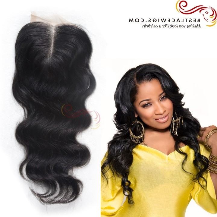 Virgin Brazilian Hair Middle Part Lace Closure Body Wave Natural In Natural Color Waves Hairstyles (View 2 of 25)