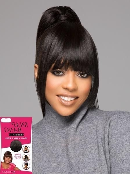 Vivica Fox Collection – Snap Bang Front | Short Hairstyles Pertaining To Minaj Pony Hairstyles With Arched Bangs (View 3 of 25)