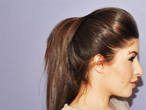 Volumized Ponytail Hair Tutorial | Missjessicaharlow – Youtube In Big And Bouncy Half Ponytail Hairstyles (View 17 of 25)